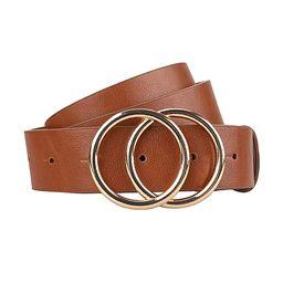 """Earnda Women's Leather Belt Fashion Soft Faux Leather Waist Belts For Jeans Dress 1 1/4"""" Width   Amazon (US)"""