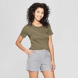 Women's Fitted Short Sleeve Crew T-Shirt - A New Day™   Target