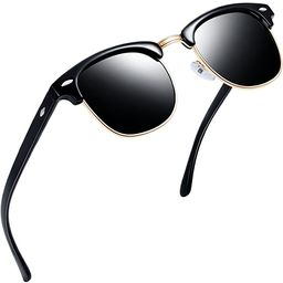 Joopin Semi Rimless Polarized Sunglasses Women Men Retro Brand Sun Glasses | Amazon (US)