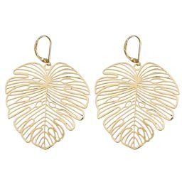 Gold Palm Leaf Statement Earrings - Panacea Jewelry   Panacea