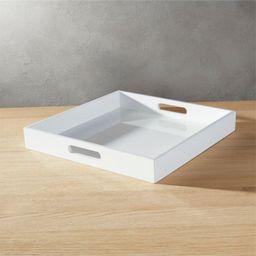 Hi-Gloss Square White Tray + Reviews | CB2 | CB2
