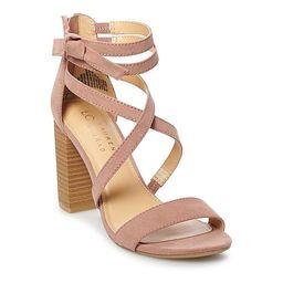 LC Lauren Conrad Walnut Women's High Heel Sandals | Kohl's
