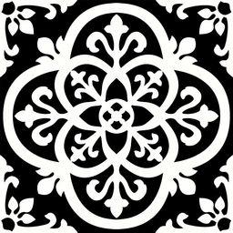 FloorPops FP2475 Gothic Peel & Stick Tiles Floor Decal, Black | Amazon (US)