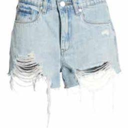 The Barrow Ripped Denim Shorts | Nordstrom