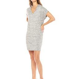 Daily Ritual Women's Supersoft Terry Deep V-Neck Roll-Sleeve Dress   Amazon (US)