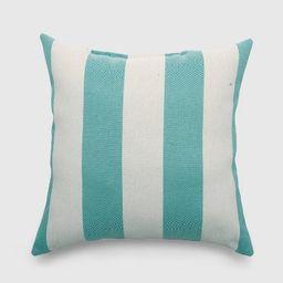 Square Cabana Stripe Outdoor Pillow - Threshold™   Target