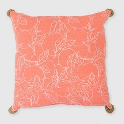 Oversize Square Oranges Outdoor Pillow - Opalhouse™   Target