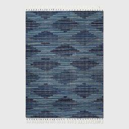Diamond Tassel Outdoor Rug Blue - Opalhouse™   Target