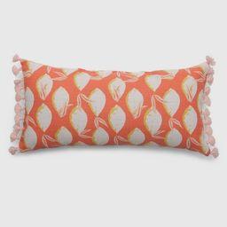 Oversize Lumbar Lemons Outdoor Pillow Coral - Opalhouse™   Target