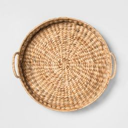 """17.7"""" x 6.3"""" Water Hyacinth Beaded Woven Tray Natural - Opalhouse™   Target"""
