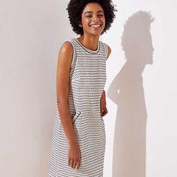 Striped Tweed Pocket Shift Dress   LOFT   LOFT
