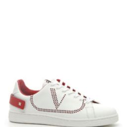 Men's Net Low-Top Leather Logo Sneakers | Bergdorf Goodman