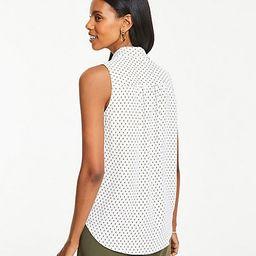 Petite Ikat Dot Sleeveless Camp Shirt   Ann Taylor (US)