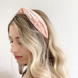 Pearl Headband - Blush Pink Headband, Large Pearl Headband, Matador Headband, Alice Band, Spanish...   Etsy ROW