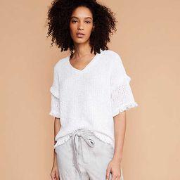 Lou & Grey Fringestitch Sweater   LOFT
