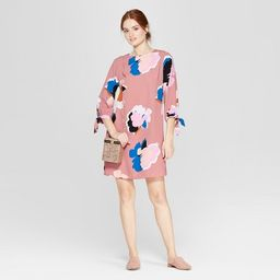 Women's Floral Print Long Sleeve Crepe Dress - A New Day™ Pink | Target