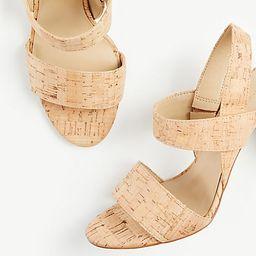 Lorna Cork Heeled Sandals | Ann Taylor (US)