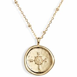 Compass Coin Pendant Necklace | Nordstrom
