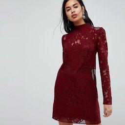 ASOS ULTIMATE Lace Mini Shift Dress - Red | ASOS US