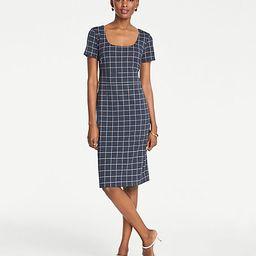 Windowpane Sheath Dress   Ann Taylor (US)