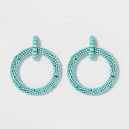 SUGARFIX by BaubleBar Seed Beaded Hoop Earrings   Target