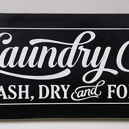 Laundry Co. Wash Dry and Fold Hand Painted Wood Sign Made In USA | Amazon (US)