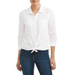 Women's Button Front Shirt | Walmart (US)