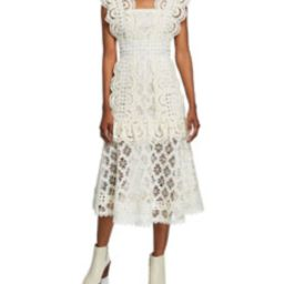Laurel Lace Sleeveless Midi Dress | Bergdorf Goodman