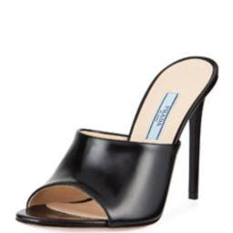 Calf Leather High-Heel Mule Sandals   Bergdorf Goodman