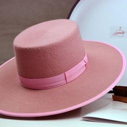 Bolero Hat | The BONBON | Pink Wool Felt Flat Crown Wide Brim Hat Women | Womens Western Hats | Etsy ROW