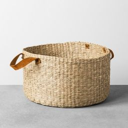 Seagrass Basket with Leather Handle - Large - Hearth & Hand™ with Magnolia | Target
