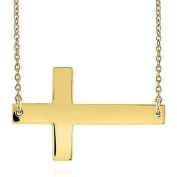 Belk & Co. 14k Yellow Gold Sideways Cross Necklace   Belk