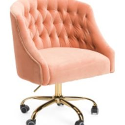 Vivian Velvet Office Chair   TJ Maxx