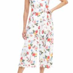Beverly Ruffle Racerback Cotton Jumpsuit | Nordstrom