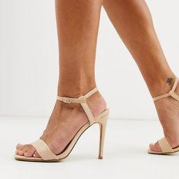 Truffle Collection stiletto barely there square toe heeled sandals | ASOS US