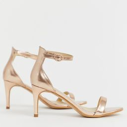 Truffle Collection kitten heel barely there sandals | ASOS US