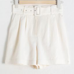 Belted Linen Blend Shorts | & Other Stories