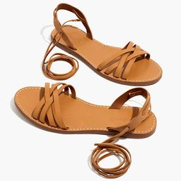 The Boardwalk Woven Lace-Up Sandal | Madewell