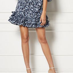 Sarah Navy Floral Skirt - Eva Mendes Collection   New York & Company