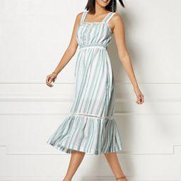 Cameron White Stripe Maxi Dress - Eva Mendes Collection   New York & Company