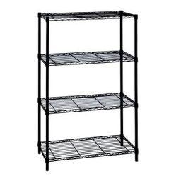 54 in. H x 36 in. W x 14 in. D 4-Shelf Wire Unit in Black   The Home Depot