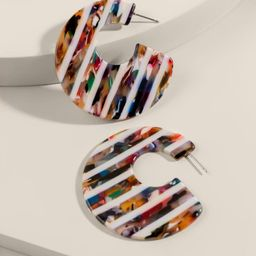 Ellie Striped Marbled Resin Earrings | Francesca's Collections