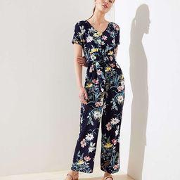 Bouquet Short Sleeve Jumpsuit | LOFT | LOFT