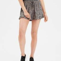 AE High-Waisted Leopard Print Runner Shorts   American Eagle Outfitters (US & CA)