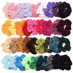 SEVEN STYLE 36 Pcs Hair Scrunchies Velvet Elastic Hair Bands Scrunchy Hair Ties Ropes Scrunchie f... | Amazon (US)