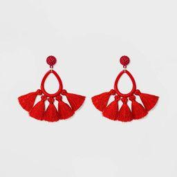 SUGARFIX by BaubleBar Tassel Fringe Hoop Earrings | Target