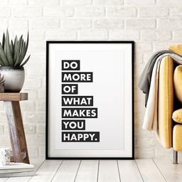 Do More of What Makes You Happy, Printable Wall Art, Motivational Quote Print, Inspirational Quot... | Etsy (US)