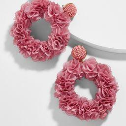 Camellia Flower Hoop Earrings | BaubleBar (US)