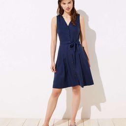Button Down V-Neck Dress   LOFT