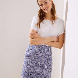Scalloped Embroidered Eyelet Skirt | LOFT